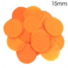 Orange Tissue Paper Confetti | 15mm Round | 14g Bag